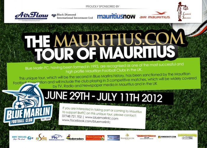Mauritius Tour 2012 information page