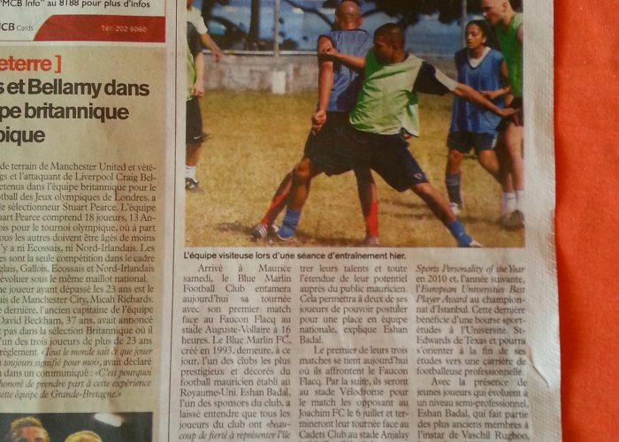 L'express 2012 Tour Newspaper Article